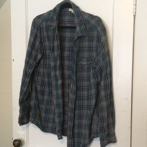Sonoma Blue Plaid Shirt Size XL